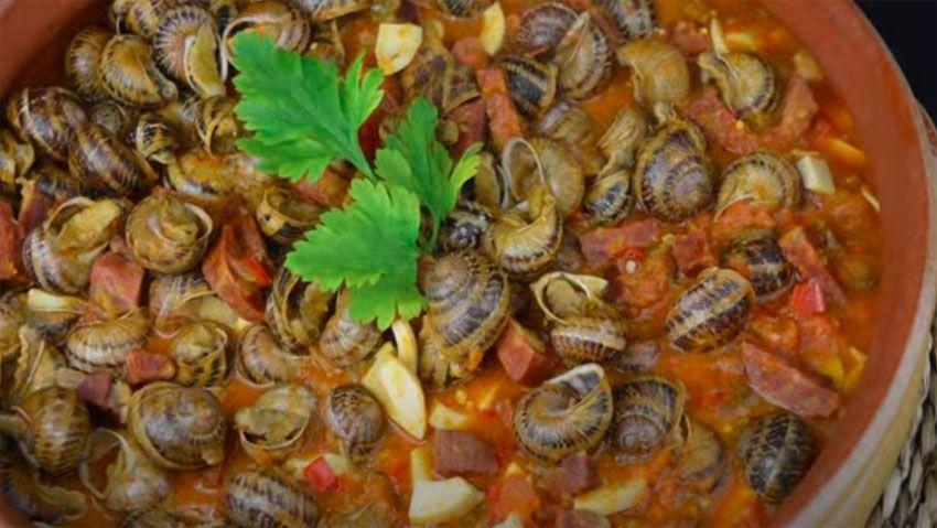 Receta de Caracoles en salsa picante
