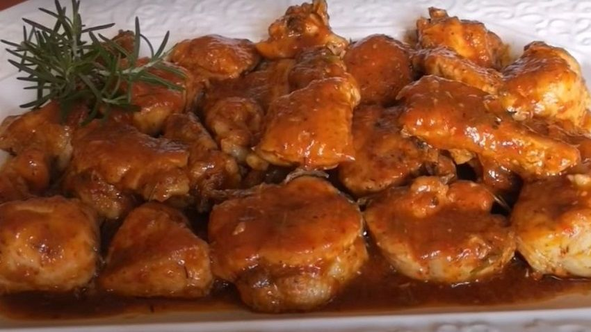 Receta de pollo a la Pantoja español