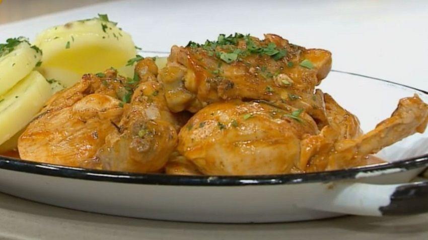 Receta de pollo salmorejo español