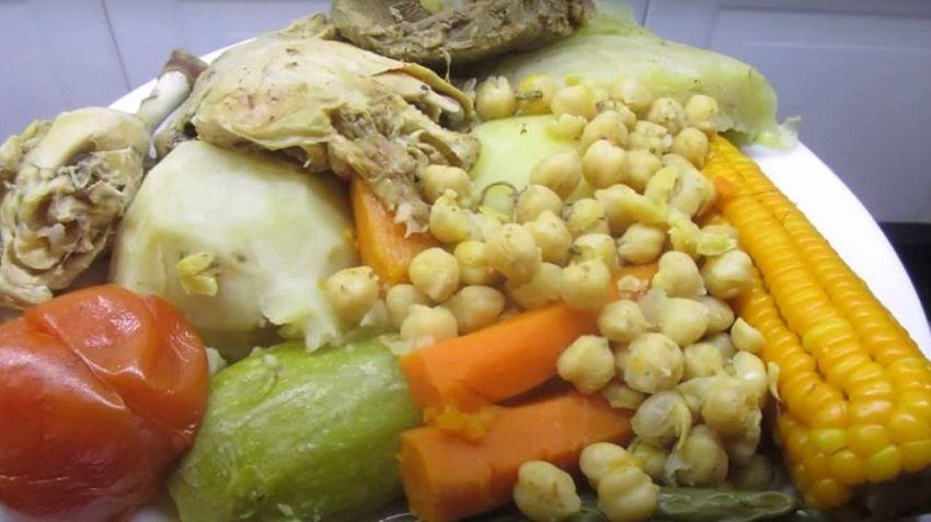 Receta de puchero canario español