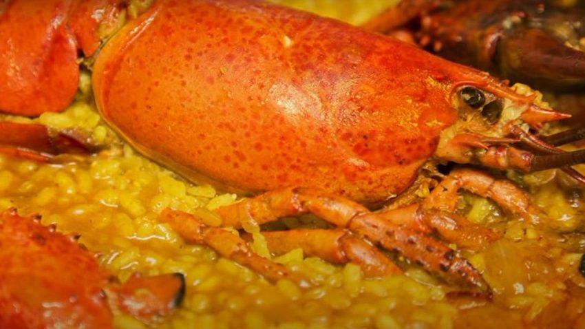 Receta de arroz con bogavante español