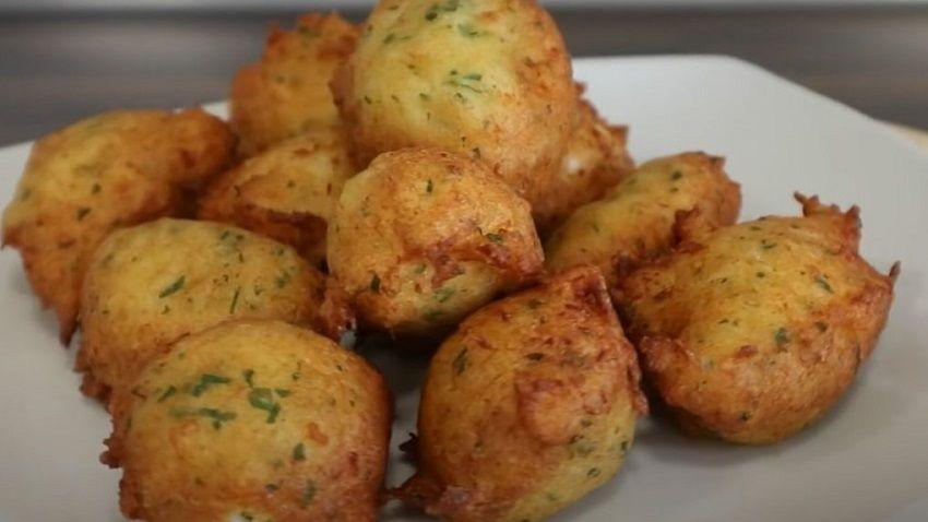Receta de buñuelos de bacalao español